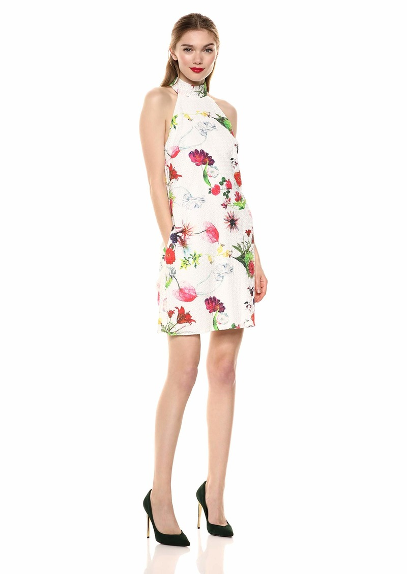 LAUNDRY BY SHELLI SEGAL Women's Sleeveless Floral Day Dress