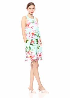 LAUNDRY BY SHELLI SEGAL Women's Sleeveless Floral Pom Dress
