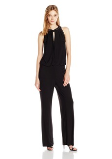 laundry BY SHELLI SEGAL Women's Sleeveless Jumpsuit with Neck Tie  XS