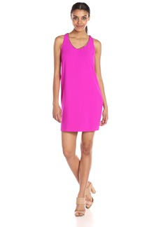 laundry BY SHELLI SEGAL Women's Sleeveless Tank Dress with Chain Detailing At Neck