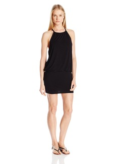Laundry by Shelli Segal Women's Solid Blouson Cover up Dress  S