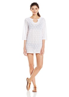 Laundry by Shelli Segal Women's Spellbound Crochet Tunic Cover Up