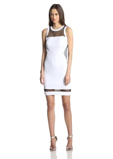 laundry BY SHELLI SEGAL Women's Stretch Crepe and Mesh Dress