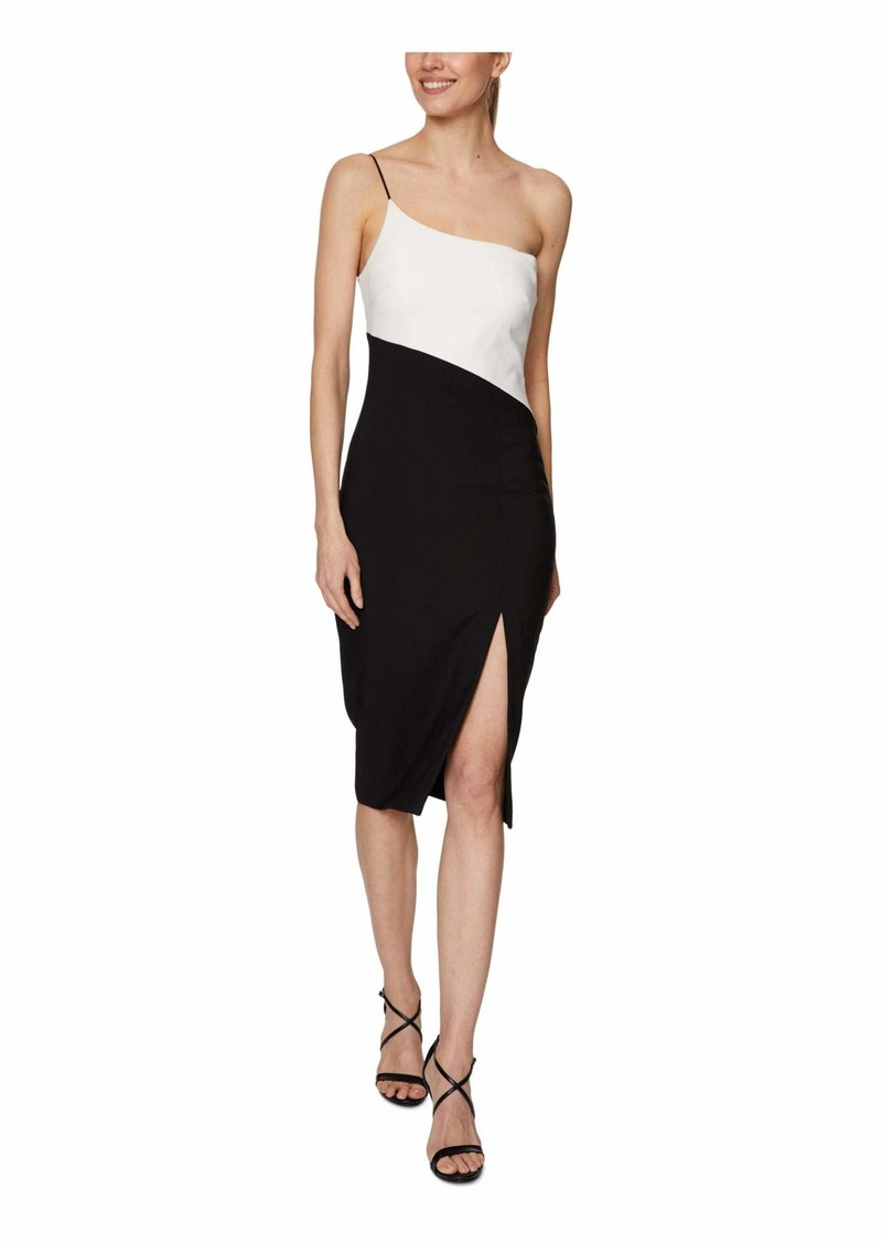 LAUNDRY BY SHELLI SEGAL Women's Stretch Crepe One Shoulder Dress