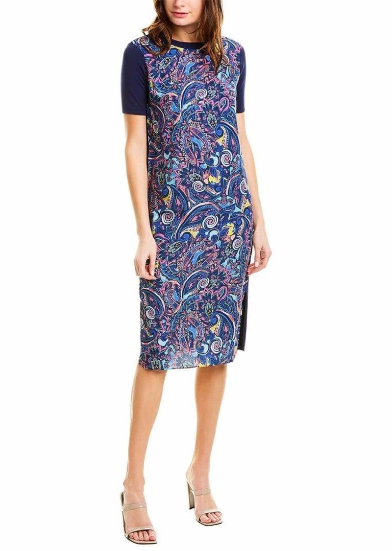 LAUNDRY BY SHELLI SEGAL Women's Stretch Knit T-Shirt Dress