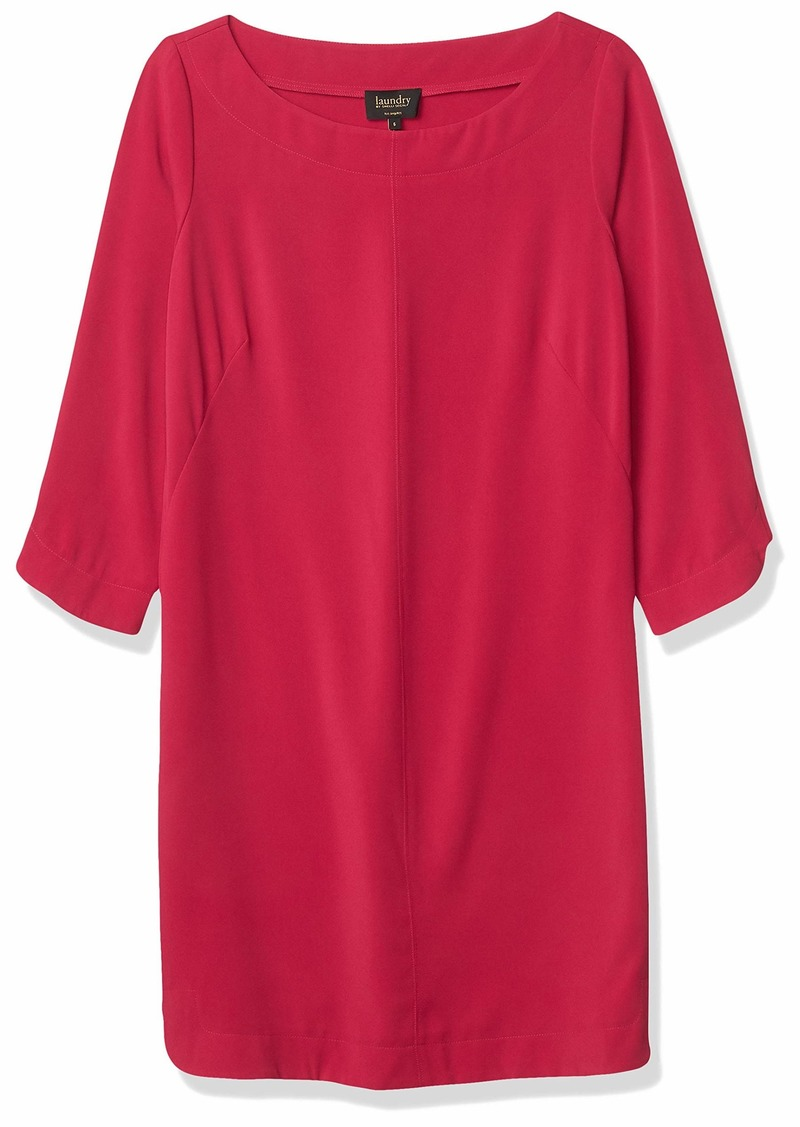 laundry BY SHELLI SEGAL Women's T-Body with Step Hem 3/4 Sleeve Dress