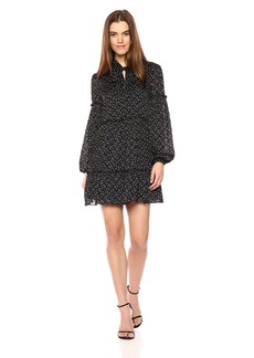 Laundry by Shelli Segal Women's Tie Neck Printed Dot Dress