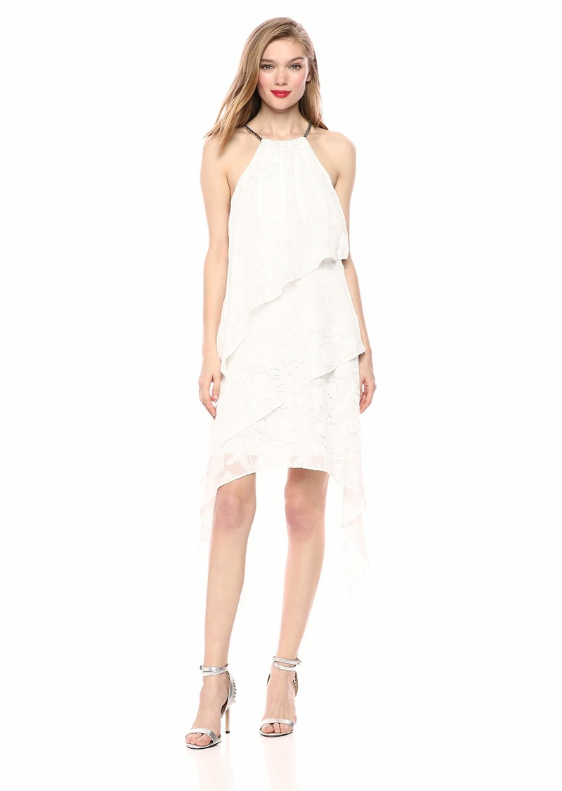 LAUNDRY BY SHELLI SEGAL Women's Tiered Necklace Dress