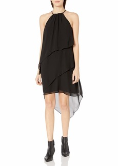 LAUNDRY BY SHELLI SEGAL Women's Tierred Cocktail with Necklace
