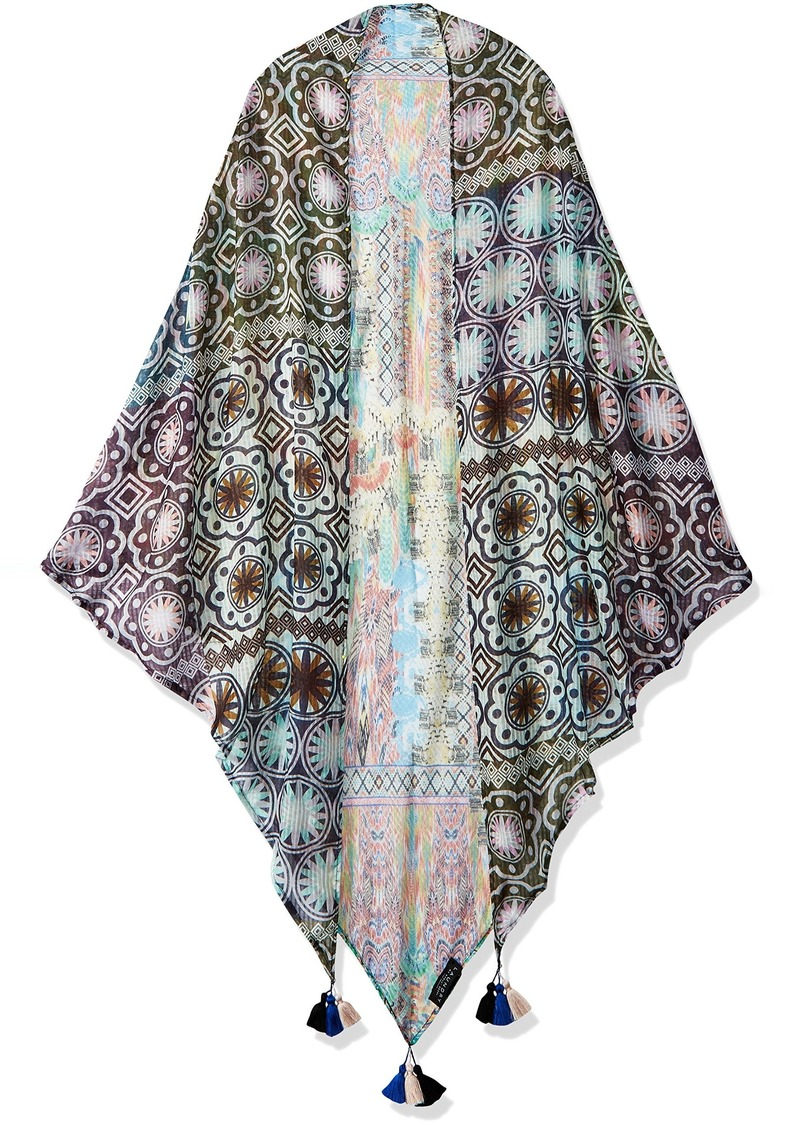 LAUNDRY BY SHELLI SEGAL Women's Tribal Triangle Scarf Wrap pink Gin