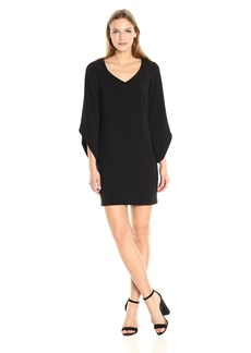 Laundry by Shelli Segal Women's Tulip Sleeve Crepe T Body