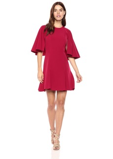 Laundry by Shelli Segal Women's Twill Fit and Flare Dress