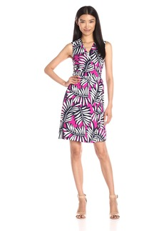 Laundry by Shelli Segal Women's Twin Print Sleeveless Wrap Dress