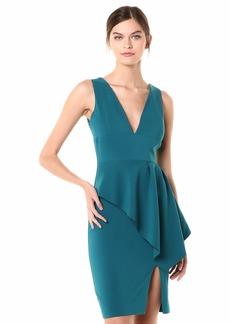 LAUNDRY BY SHELLI SEGAL Women's V Neck Peplum Dress