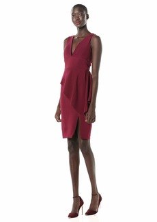 LAUNDRY BY SHELLI SEGAL Women's V Neck Peplum Dress