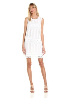 laundry BY SHELLI SEGAL Women's Venise Dress with Metal Eyelet Details