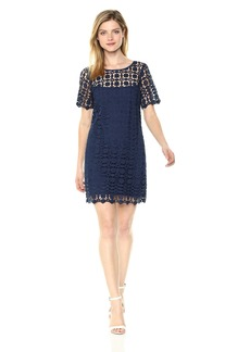 Laundry by Shelli Segal Women's Venise Lace Shift Dress