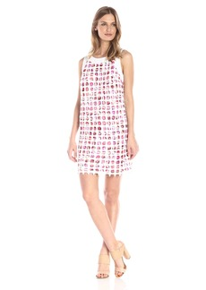 laundry BY SHELLI SEGAL Women's Venise Lace Tank Dress with Printed Lining