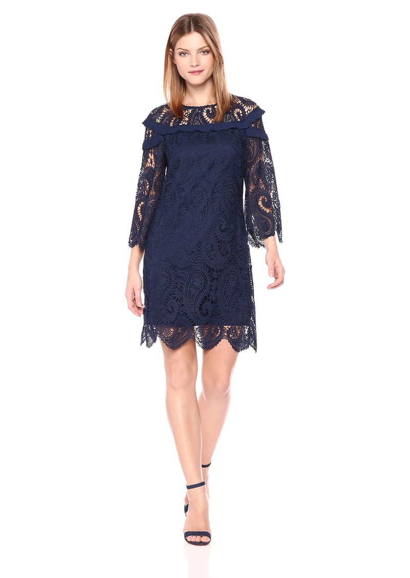 Laundry by Shelli Segal Women's Venise Shift Dress with ¾ Sleeve