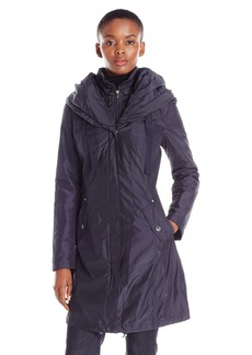 Laundry by Shelli Segal Women's Windbreaker with Pillow Collar and Bib  L
