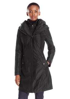 Laundry by Shelli Segal Women's Windbreaker with Pillow Collar and Bib  M