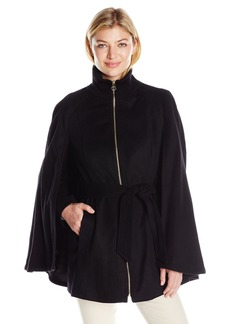 Laundry By Shelli Segal Women's Wool-Cape with Sleeves