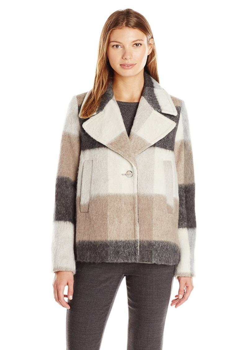 Laundry by Shelli Segal Women's Wool-Plaid Swing Coat
