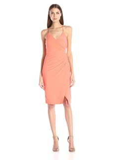laundry BY SHELLI SEGAL Women's Wrap Jersey Dress with Side Shirring