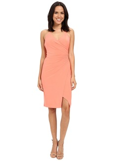 Laundry by Shelli Segal Wrap Jersey Dress with Side Shirring