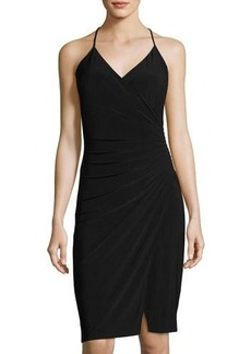 Laundry By Shelli Segal Wrapped Shirred Jersey Dress