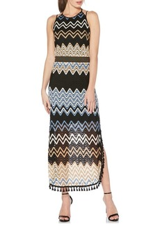 Laundry by Shelli Segal Zigzag Pointelle Maxi Dress