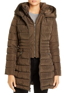 Laundry by Shelli Segal Zip-Front Puffer Coat