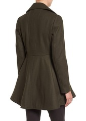 Laundry by Shelli Segal Laundry by Shelli Segal Double Breasted Fit & Flare Coat (Regular & Petite)