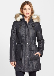 Laundry by Shelli Segal Faux Fur Trim Parka