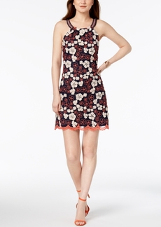 Laundry by Shelli Segal Floral-Embroidered Open-Back Dress