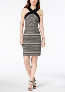 Laundry by Shelli Segal Metallic Jacquard Sheath Dress