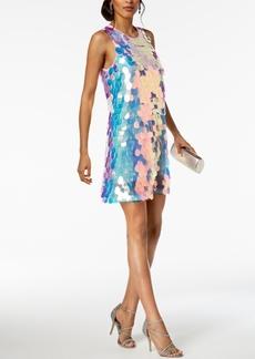 Laundry by Shelli Segal Sequin Paillete A-Line Dress