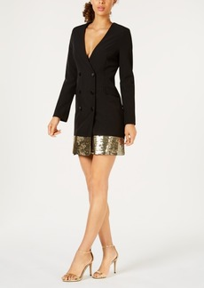 Laundry by Shelli Segal Sequined Blazer Dress
