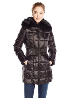 Laundry Women's Mid Length Metallic Down Coat