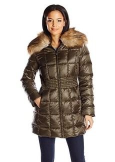 Laundry Women's Mid Length Metallic Down Coat  X-Small