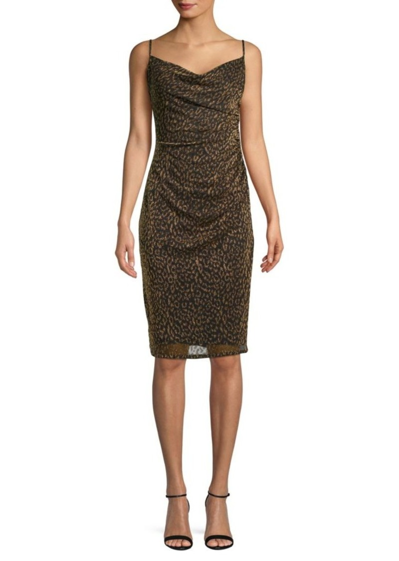Laundry by Shelli Segal Leopard-Print Ruched Sheath Dress
