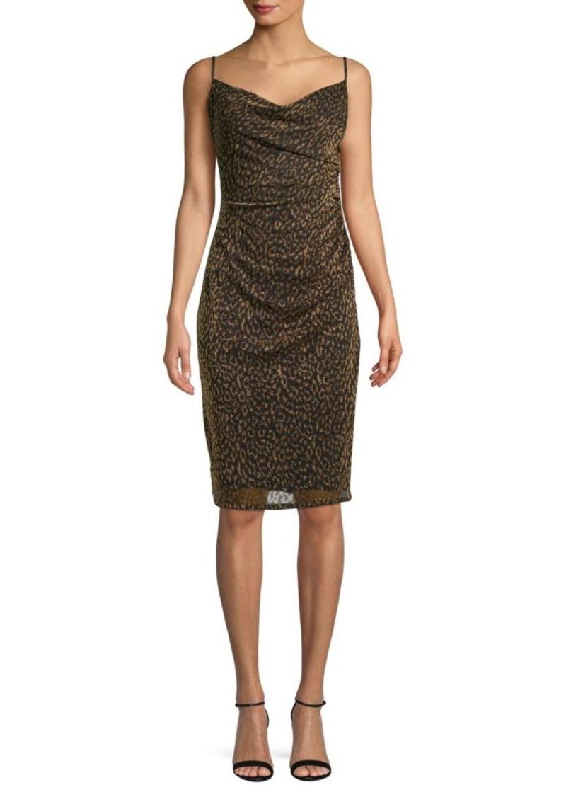 Laundry by Shelli Segal Leopard-Print Ruched Sheath Dress