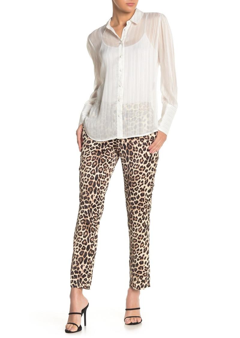 Laundry by Shelli Segal Leopard Print Satin Pants