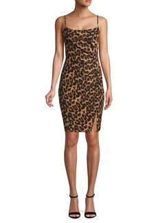 Laundry by Shelli Segal Leopard-Print Sheath Dress