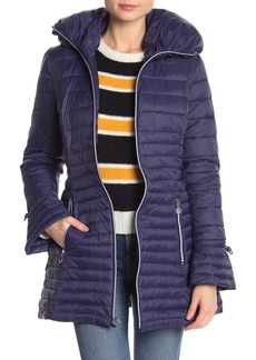 Laundry by Shelli Segal Lightweight Hooded Puffer Jacket
