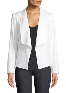 Laundry by Shelli Segal Linen Open-Front Blazer Jacket
