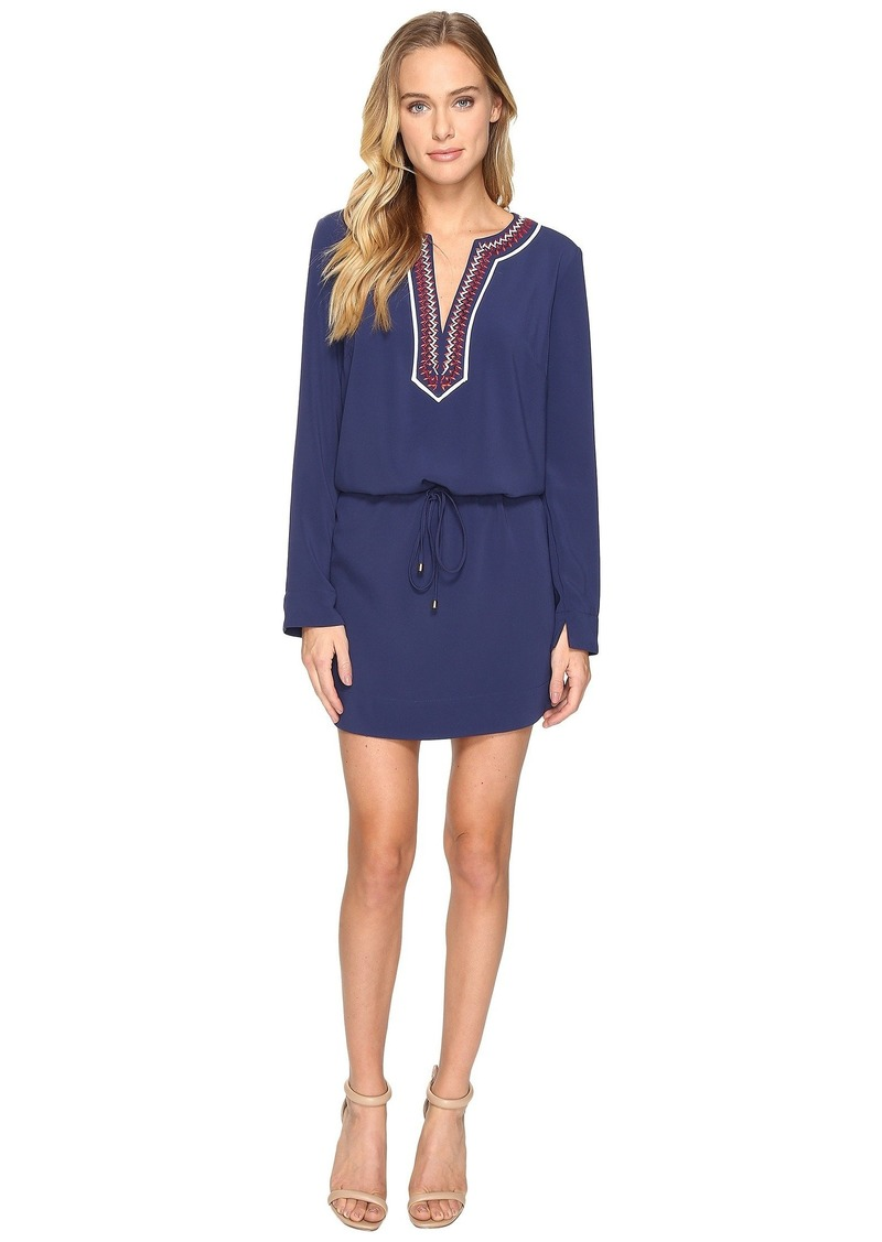Laundry by Shelli Segal Long Sleeve Dress w/ Tie At Waist
