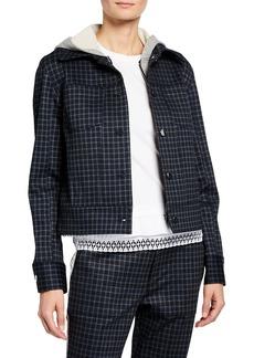 Laundry by Shelli Segal Long-Sleeve Plaid Cropped Jacket