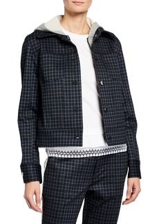 Laundry by Shelli Segal Long-Sleeve Plaid Cropped Jacket