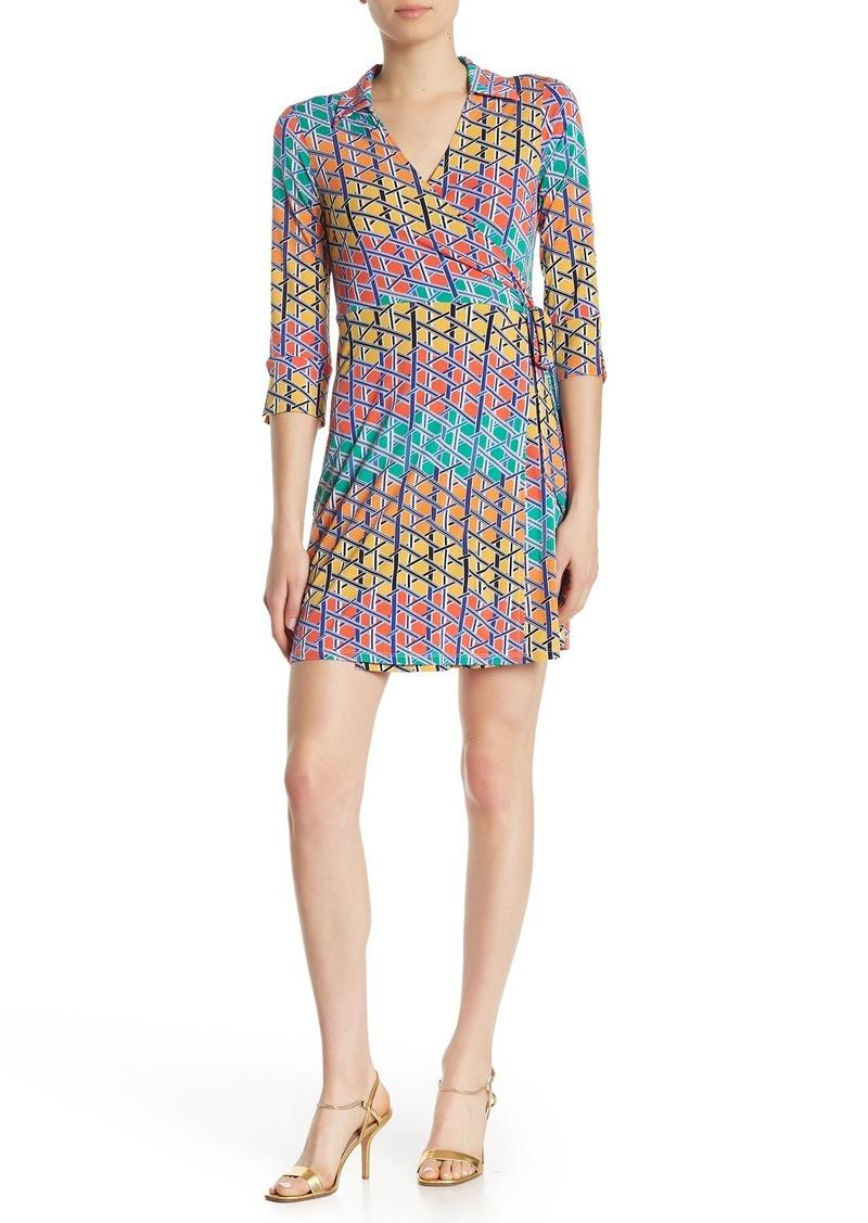 Laundry by Shelli Segal Matte Print Jersey Wrap Dress